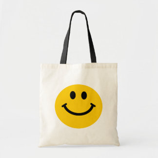 Yellow Smiley Face Tote Bag
