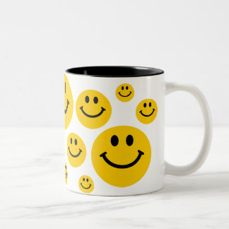 Yellow Smiley Face Two-Tone Mug