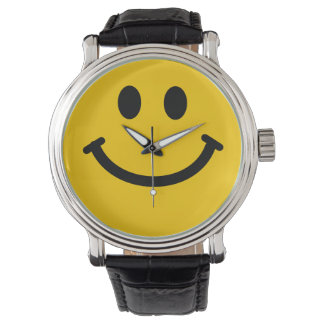 Yellow Smiley Face Watches
