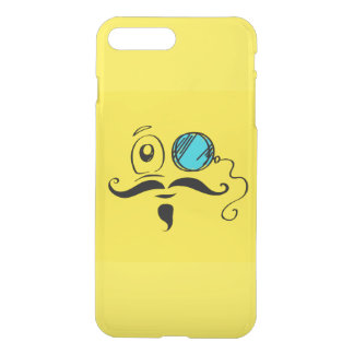 Yellow Smiley Face with Monocle and Mustache iPhone 7 Plus Case