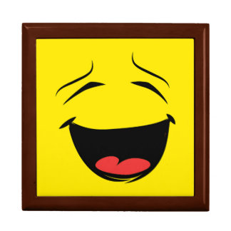 YELLOW SMILEY LARGE SQUARE GIFT BOX