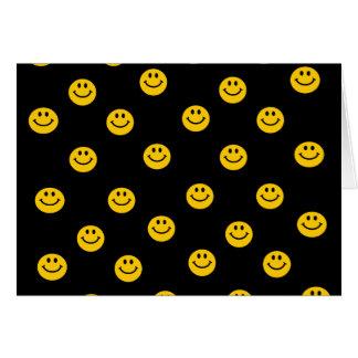 Yellow Smiley Polka Dot Pattern Greeting Card