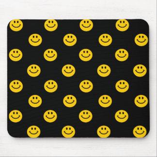 Yellow Smiley Polka Dot Pattern Mouse Mat