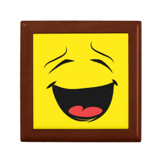 YELLOW SMILEY SMALL SQUARE GIFT BOX