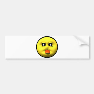 Yellow smiley sticking out tounge bumper sticker