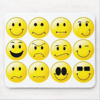 Yellow smileys mouse pad