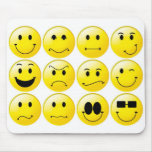 Yellow smileys mousepads