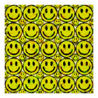 YELLOW SMILEYS POSTER