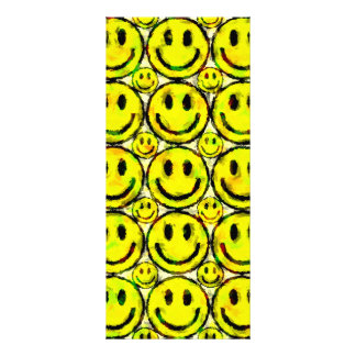 YELLOW SMILEYS CUSTOM RACK CARDS