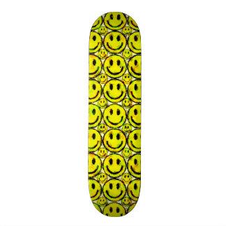 YELLOW SMILEYS CUSTOM SKATEBOARD