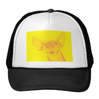 Yellow smiling doggy cap
