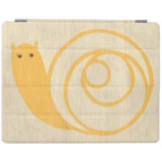 Yellow Snail on Cream Background iPad Cover