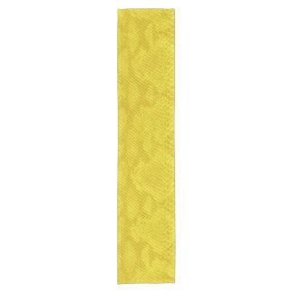 Yellow Snake Skin Gorgeous Leather Texture Short Table Runner