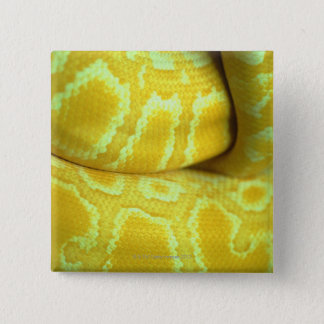 Yellow snakeskin 15 cm square badge