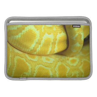Yellow snakeskin MacBook sleeve