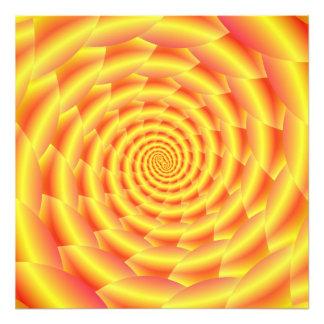 Yellow Snakeskin Spiral Art Photo