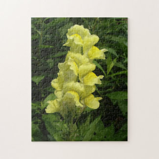 Yellow Snap Dragons Jigsaw Puzzle
