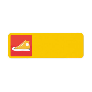 Yellow Sneaker Return Address Label