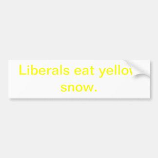 Yellow Snow Bumper Sticker