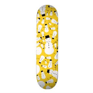 Yellow snowmen skate boards
