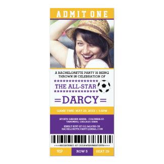 Yellow Soccer Bachelorette Party Invites