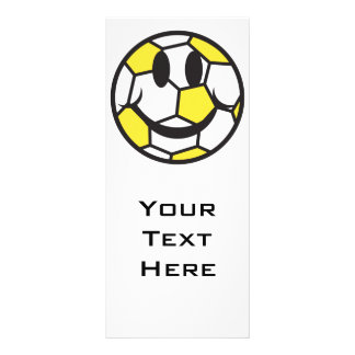 yellow soccer ball smiley face rack card template