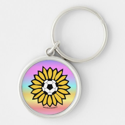 Yellow Soccer Daisy Keychains