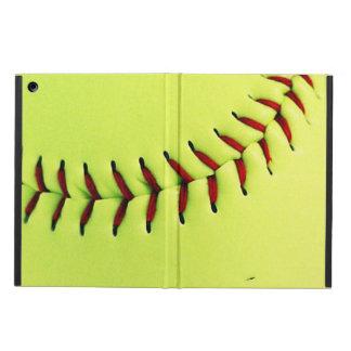 Yellow softball ball case for iPad air