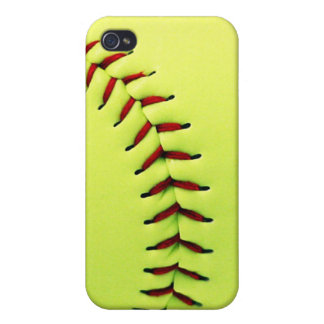 Yellow softball ball case for the iPhone 4