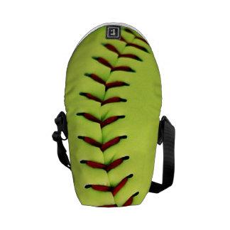 Yellow softball ball commuter bag