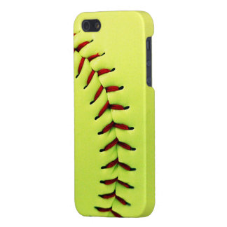 Yellow softball ball cover for iPhone 5/5S