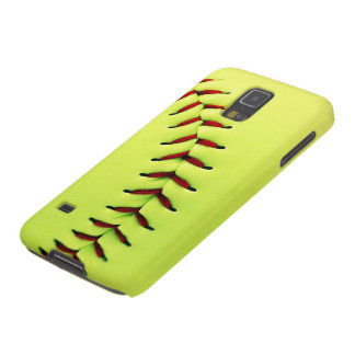 Yellow softball ball galaxy s5 cases