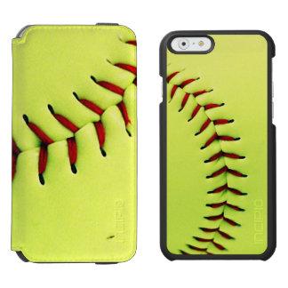 Yellow softball ball incipio watson™ iPhone 6 wallet case