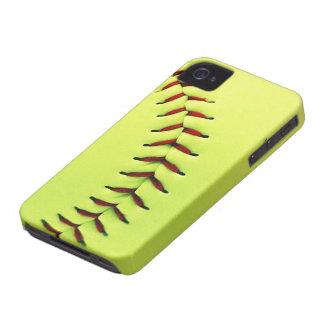 Yellow softball ball iPhone 4 Case-Mate cases