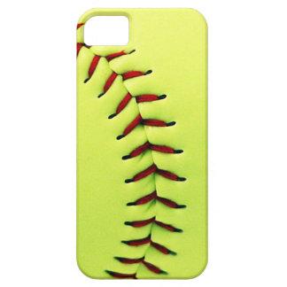 Yellow softball ball iPhone 5 covers