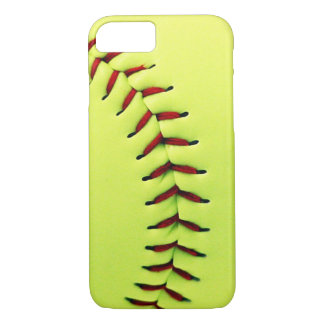 Yellow softball ball iPhone 8/7 case