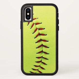 Yellow softball ball iPhone x case