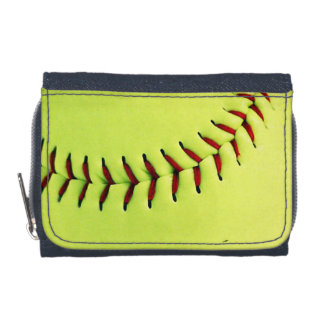 Yellow softball ball wallet