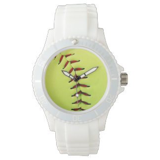 Yellow softball ball watch