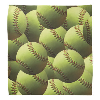 Yellow Softball Bandana