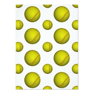 Yellow Softball / Baseball Pattern Card