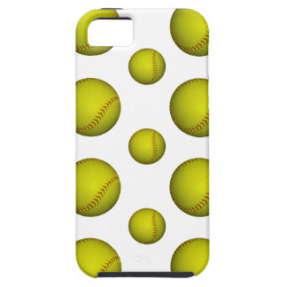 Yellow Softball / Baseball Pattern iPhone 5 Case