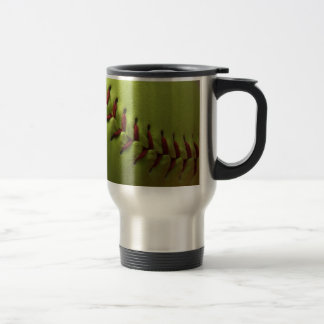 Yellow Softball Fan Travel Mug