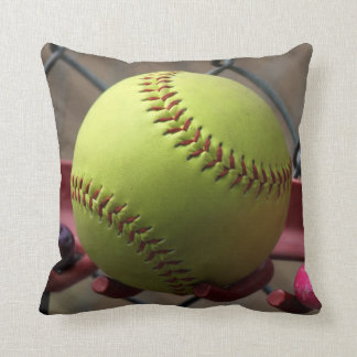 Yellow Softball Field Ball Cushion