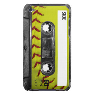 Yellow Softball Label Cassette Barely There iPod Cover