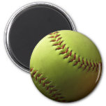Yellow Softball Magnet