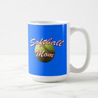 Yellow Softball Mom Mug