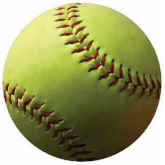 Yellow Softball Acrylic Cut Out