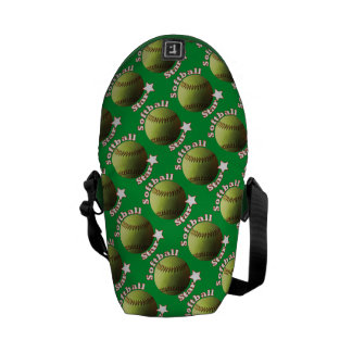 Yellow Softball Star Courier Bags
