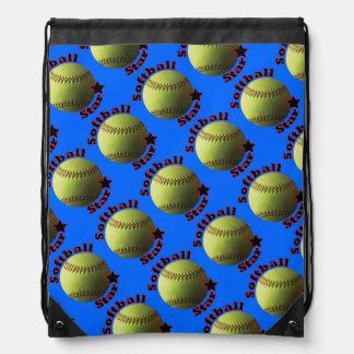 Yellow Softball Star Rucksacks
